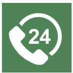 24x7 service icon