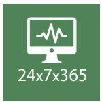 24x7x365 monitoring service icon